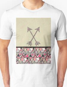Retro Tribal Arrows Vintage Earth Aztec Pattern T-Shirt