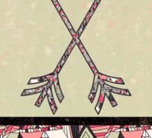 Retro Tribal Arrows Vintage Earth Aztec Pattern Sticker