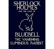 Sherlock Holmes and the case of Bluebell the vanishing luminous rabbit. Photographic Print