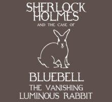 Sherlock Holmes and the case of Bluebell the vanishing luminous rabbit. Baby Tee