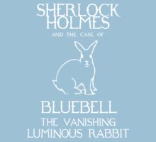 Sherlock Holmes and the case of Bluebell the vanishing luminous rabbit. One Piece - Short Sleeve