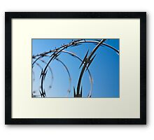 Barbed Wire Abstract Framed Print