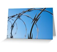 Barbed Wire Abstract Greeting Card
