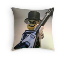 Guitarist Custom Minifigure with Guitar Throw Pillow