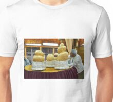 Buddhafigures with thick layer of gold leaf in Phaung Daw U Pagoda Unisex T-Shirt