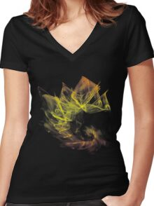 Fractal Abstract Women's Fitted V-Neck T-Shirt