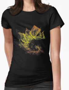Fractal Abstract Womens Fitted T-Shirt