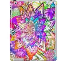 Colorful Vintage Floral Pattern Drawing Watercolor iPad Case/Skin