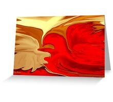 Freedom - Abstract  Art + Products Design  Greeting Card