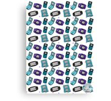 Handheld Console Pattern Canvas Print