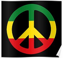 Peace - Rasta colours Poster