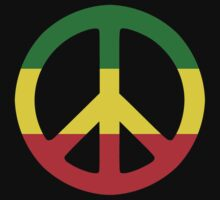 Peace - Rasta colours by DiscoInferno