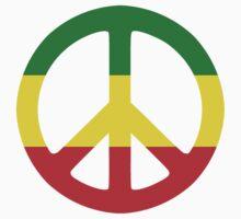 Peace - Rasta colours Kids Clothes