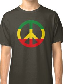 Peace - Rasta colours Classic T-Shirt