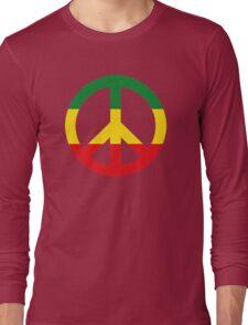 Peace - Rasta colours Long Sleeve T-Shirt