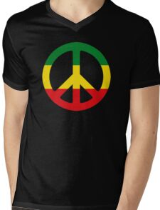 Peace - Rasta colours Mens V-Neck T-Shirt