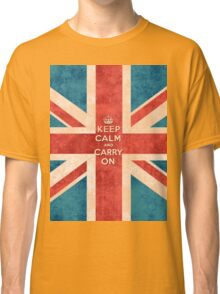 Keep Calm and Carry On Vintage Union Jack Flag Classic T-Shirt