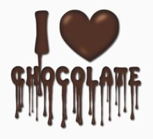 I Love Chocolate T-Shirt by Lallinda