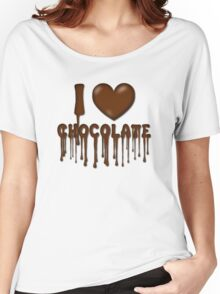 I Love Chocolate T-Shirt Women's Relaxed Fit T-Shirt