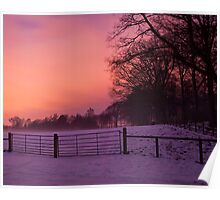 Winter sunset, Dalkeith Country Park, Scotland Poster