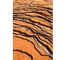 Striated Rocks Photographic Print