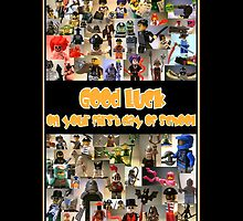 Good Luck on your First Day of School Greeting Card a Montage of Custom Minifigs by Customize My Minifig