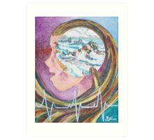 Oceanscape (Acrylics)- Art Print