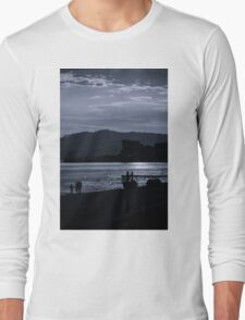 Late Stroll Along The Shore Long Sleeve T-Shirt