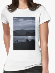 Late Stroll Along The Shore Womens Fitted T-Shirt