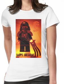 Happy Birthday Greeting Card TMNT Teenage Mutant Ninja Turtles Master Shredder Custom Minifig Womens Fitted T-Shirt