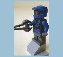 Blue Spartan Soldier Custom Minifig One Piece - Short Sleeve