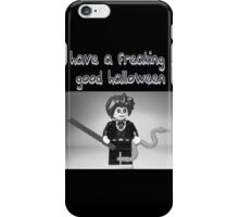 """Have a Freaking Good Halloween"" Custom Evil Magician Greeting Card iPhone Case/Skin"