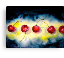 Cherries...The Line-Up Canvas Print
