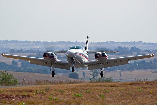 Cessna 303 Crusader Landing by RatManDude