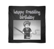 """Happy Freaking Birthday"" Custom Evil Magician Birthday Greeting Card Scarf"