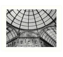 Galleria Vittorio Emanuele (Milan) - detail Art Print