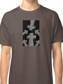 Spooky Scary Graveyard Headstones Classic T-Shirt