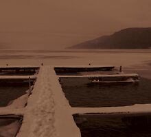 Winter Dock, Otsego by Bruce Haney