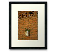 wall garden Framed Print