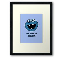 We Eats It Whole Framed Print