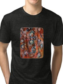 Bubbles in Red - Boxed Tri-blend T-Shirt