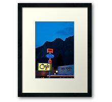 Twin Peaks Diner Framed Print