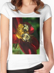 (Feeding on a flower) I'm falling through the universe again.. The love I feel as I fly endlessly through space.. Women's Fitted Scoop T-Shirt