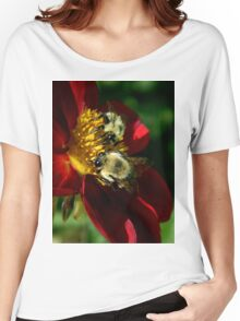 (Feeding on a flower) I'm falling through the universe again.. The love I feel as I fly endlessly through space.. Women's Relaxed Fit T-Shirt