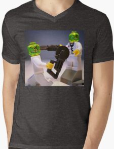 Doctor Toxic with Chainsaw, Custom Minifig Mens V-Neck T-Shirt