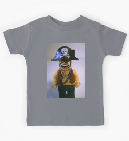 Pirate Captain Minifigure with Flame Torch Kids Tee