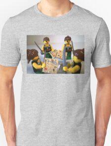 Custom Pirate Girl Minifigure with Treasure Map Unisex T-Shirt