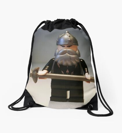 Mongolian Chinese Warrior Chief Custom Minifig Drawstring Bag