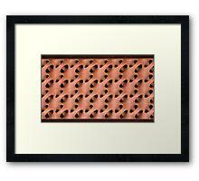 Peach Webbing Framed Print