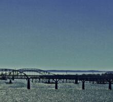 Bridge Over Sparkling Water (Panorama) Sticker